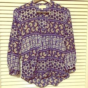 Anthropologie Yumi Kim Silk Surplus Wrap Blouse